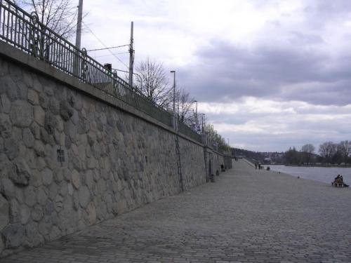 Žulová zeď na Výtoni: celkový pohled.