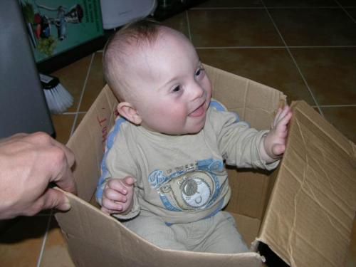 Ondřej v krabici