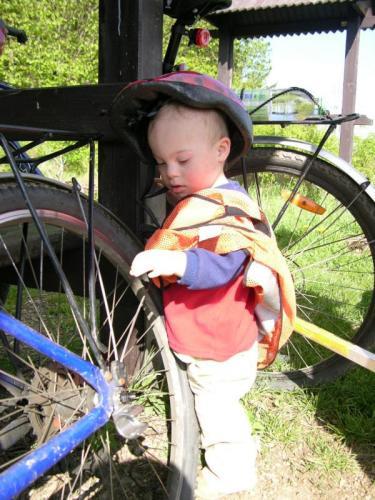 Ondřej nepodceňuje bezpečnost na kole