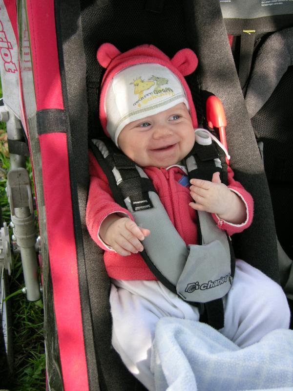 Magdalena je ve vozíku spokojená