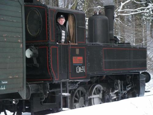 Mikulášský vlak: Parní lokomotiva v zimě, prostě krása...