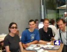 Snímek z vysílání televize KMOV