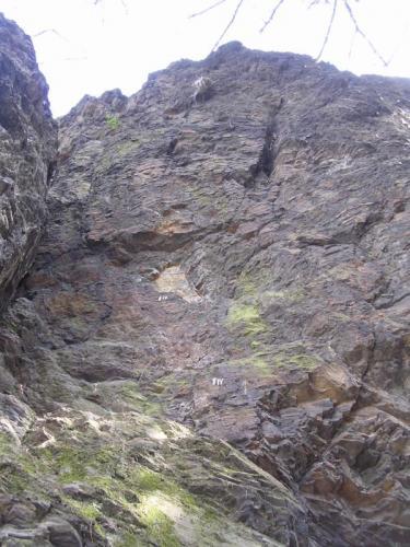 Kunratická skalka - levá stěna