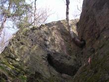 Kunratická skalka - levá okrajovka